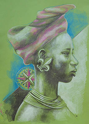 Belong to Africa Green print by Deziree Fine Arts